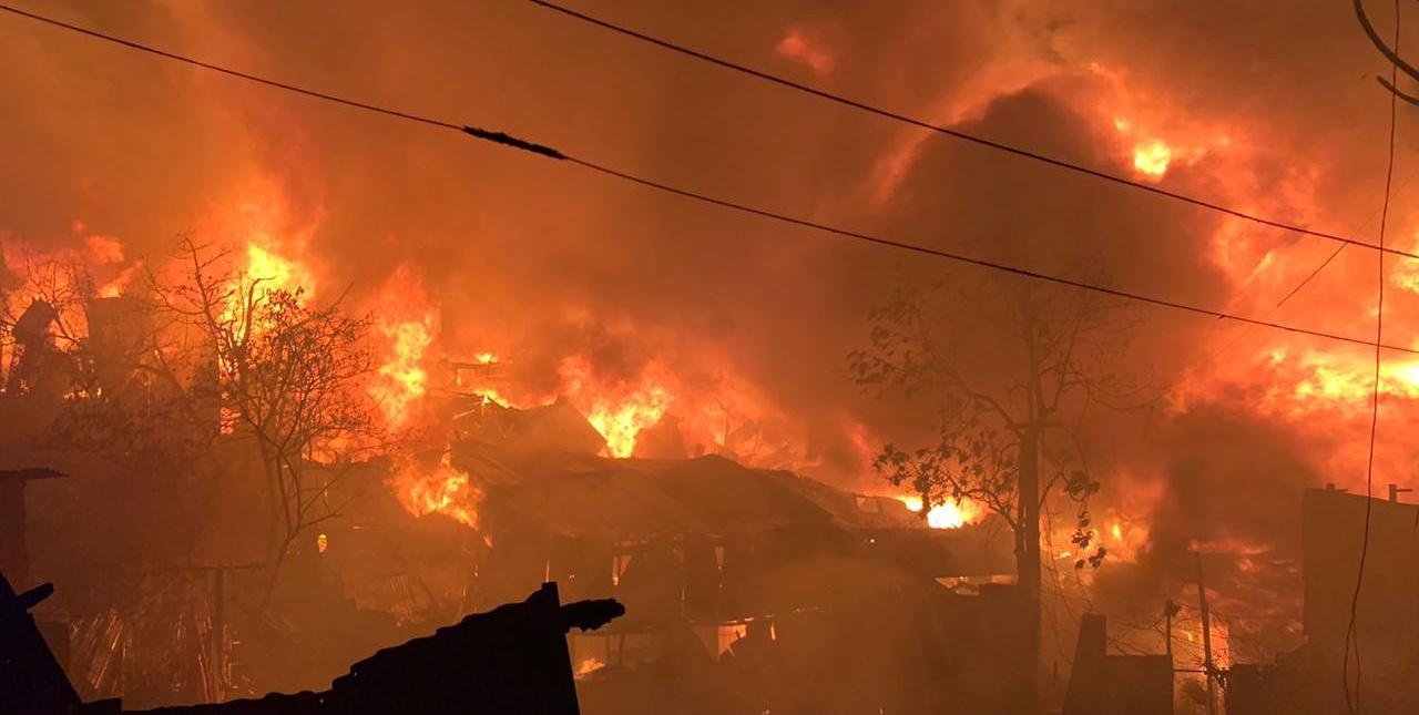 Donación damnificados incendio Guararí