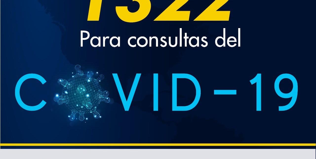 Se activa la Línea 1322 para atención de consultas sobre COVID-19